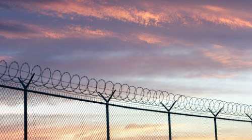 High security fencing barbed and razor wire fencing